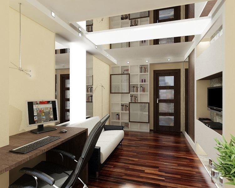 Маленький кабинет в квартире дизайн