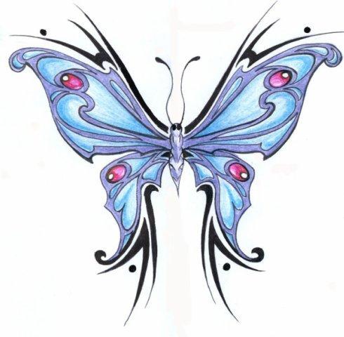 allpix.com / татуировка бабочка эскизы