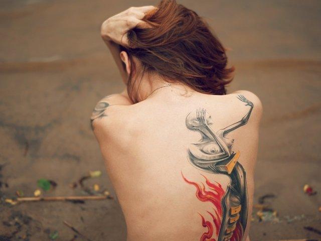 Девушки с татуировками - фото обои на рабочий стол, картинки девушек с тату / Страница 5
