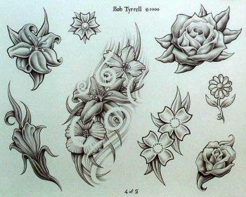 Эскизы женских тату