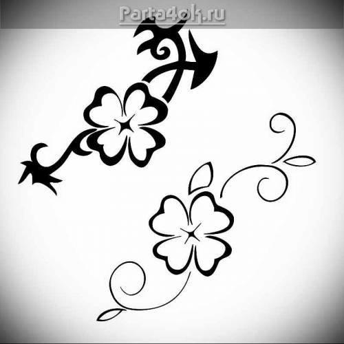 Клевер тату - Рисунки тату - фотографии татуировок, каталог фото тату и пирсинга - Татуировки - фото, новости, статьи, эскизы тату