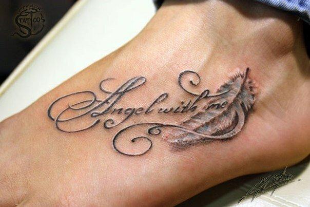Тату надписи для девушек. Женские татуировки надписи