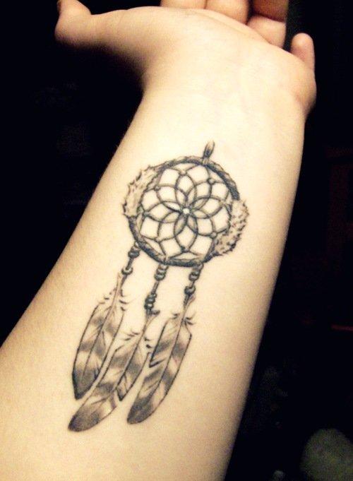татуировка ловец снов на запястье |