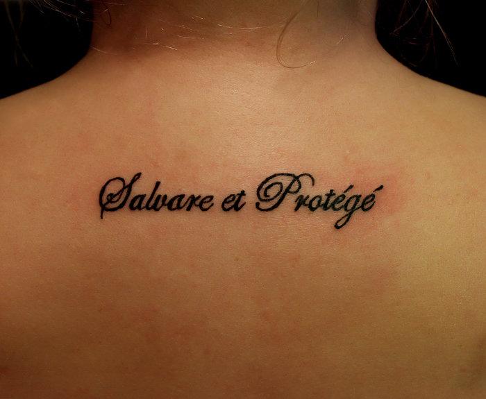 татуировка надпись женская 3