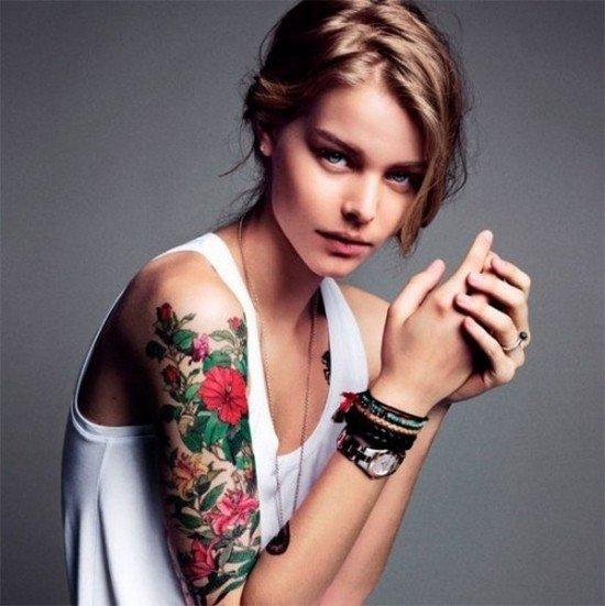 Татуировки для девушек: фото, Тату для девушек на ноге, на спине, на запястье, надписи