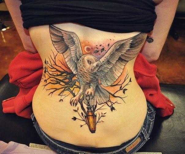 татуировки на спине женские фото - Фото татуировки на спине фото тату на спине Тату