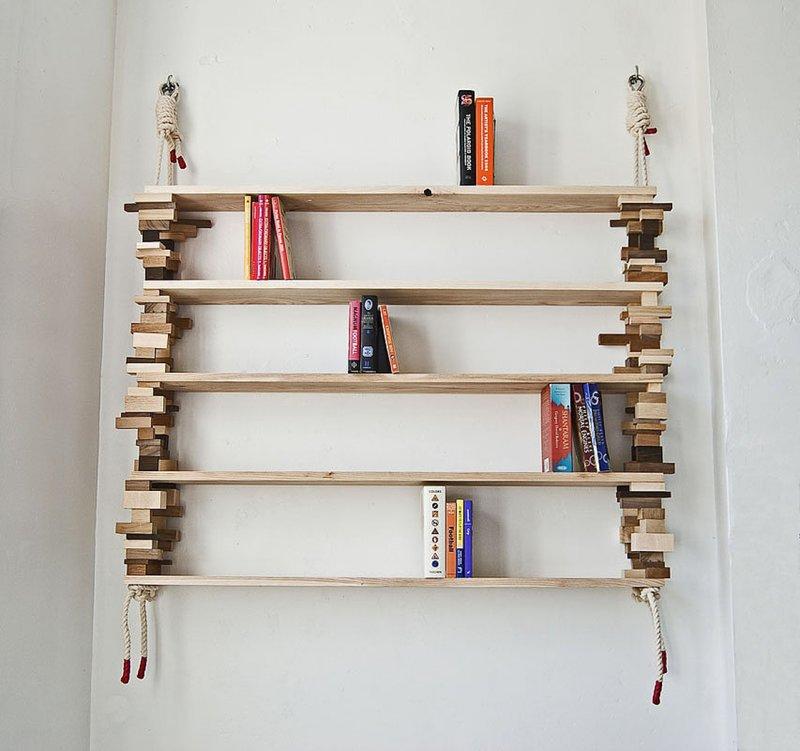 фото книжные полки настенные