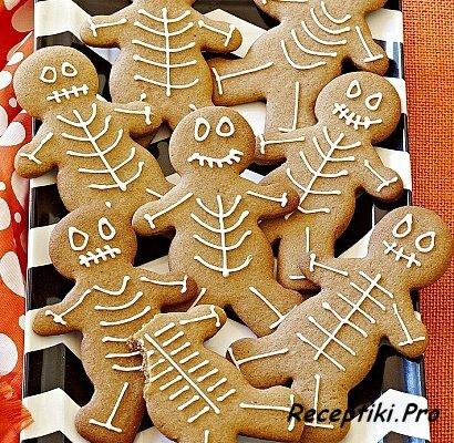Английская кухня - Имбирное печенье-скелетики