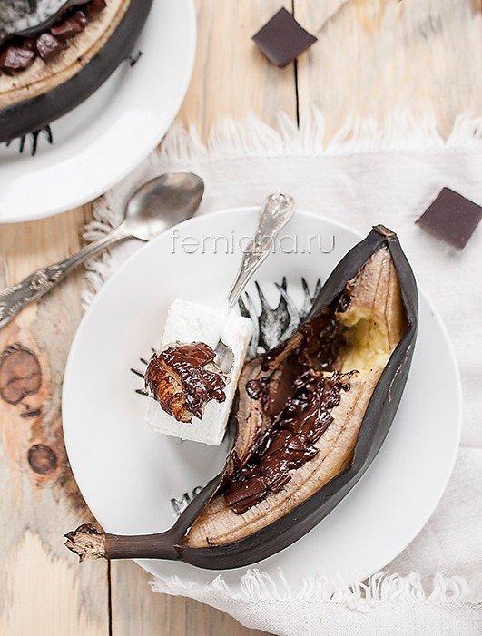 desert iz zapechennyh bananov s shokoladom1