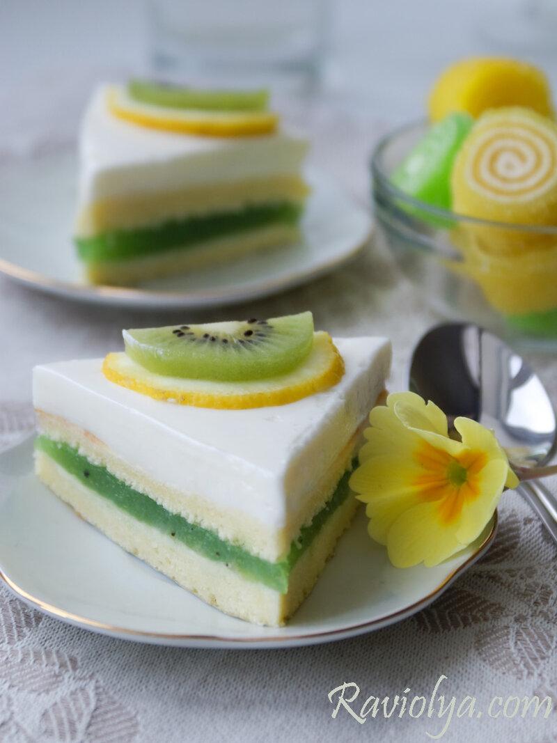 Фото пирожные с желе из киви