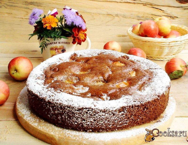Яблочный пирог из ржаной муки фото рецепт приготовления