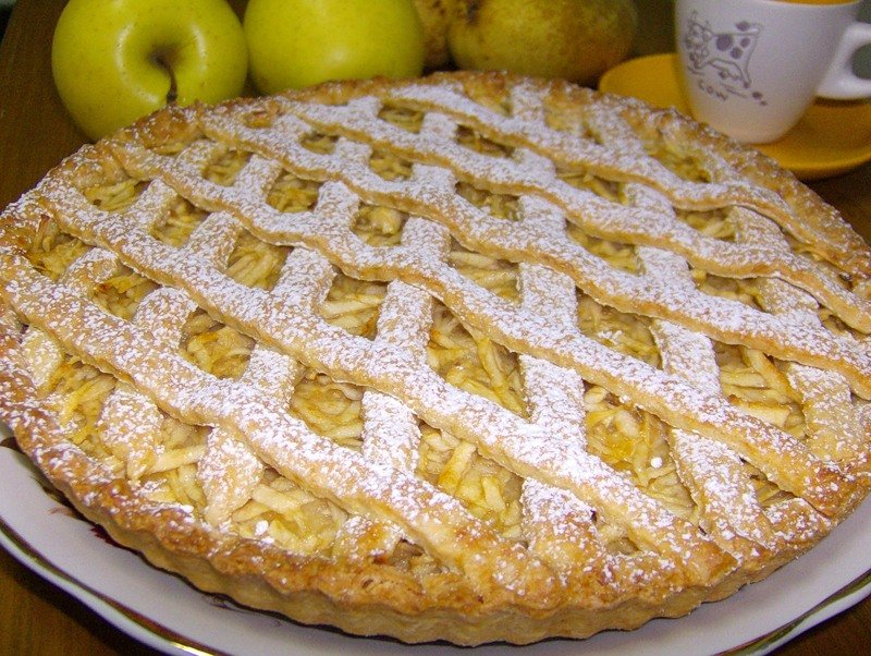 Яблочный пирог / Рецепт с фото и видео, бесплатно, пошагово.