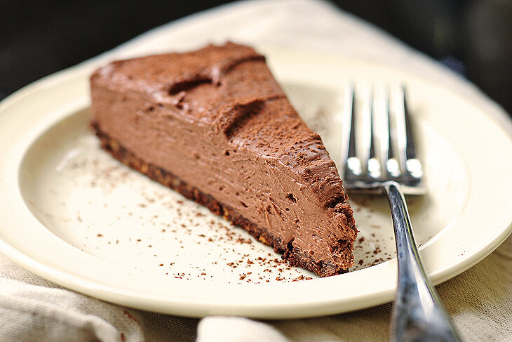 No heat required: No Bake Chocolate Cheesecake