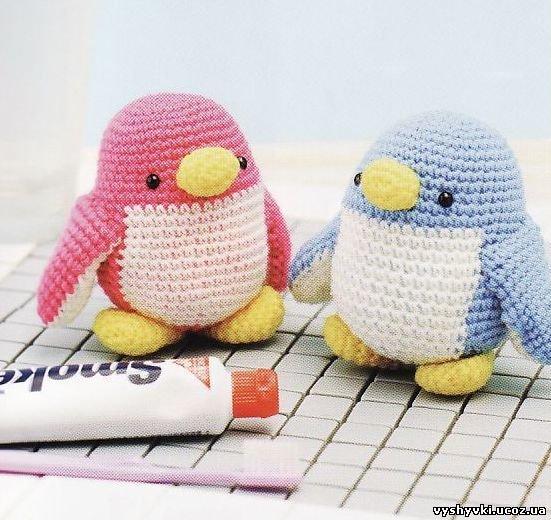Пингвины амигуруми (вязаные японские игрушки)