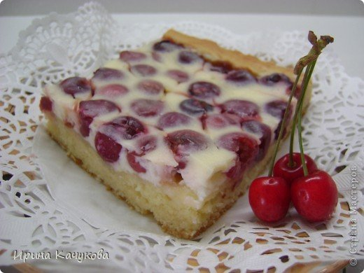 Пирог с черешней пошаговый рецепт с фото - Вкуссовет ру .  Картинки с черешней