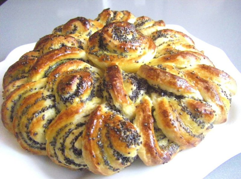 пирог с маком из дрожжевого теста рецепт с фото   photo-feast.ru