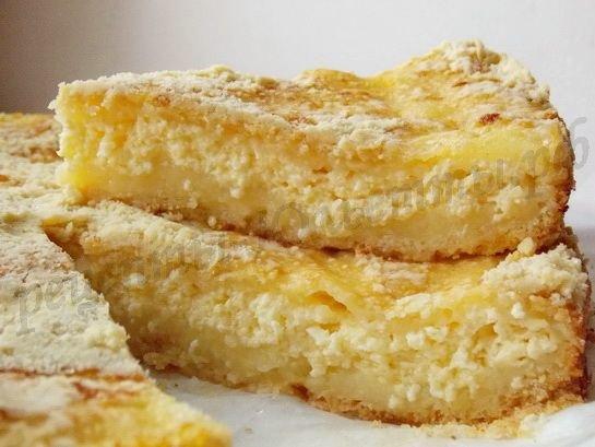 пирог с творогом рецепты легкие с фото