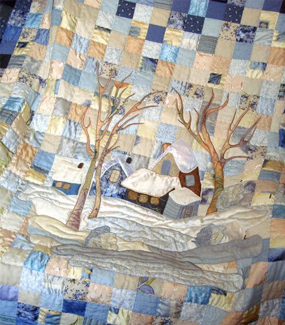 Покрывало лоскутное с элементами аппликации. Автор  Иванцова Мария - Текстильные Фантазии: интернет-магазин ткани для пэчворка и квилтинга - купить ткань из 100% хлопка (Москва)