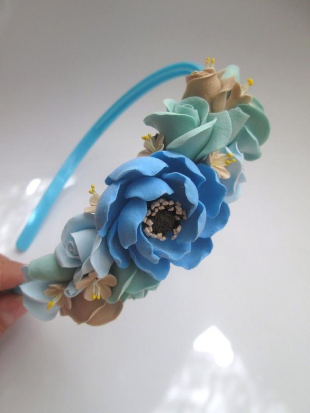 полимерная глина, цветы ручной работы, бижутерия своими руками, лепка из глины