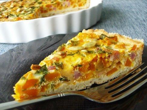 Рецепт пирог с тыквой 'Осенние листья'