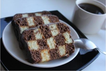 Шахматный кекс   Кулинарные Рецепты