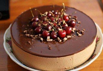 шоколадно-зеркальный глазурь
