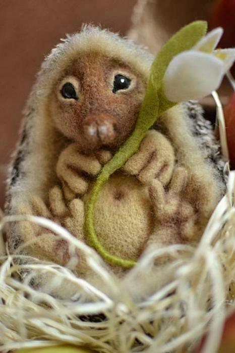 Валяние из шерсти игрушек: мастер класс по валянию симпатичного ежика