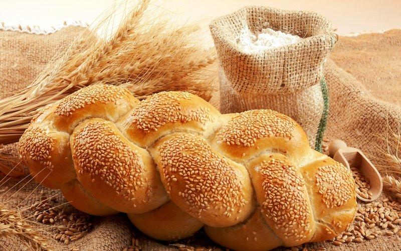 зерно, пшеница, кунжут, колосья, мука, Хлеб, мешок, батон