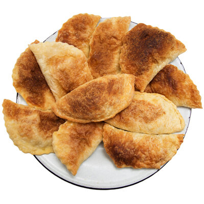 Жареные пирожки с картофелем и капустой