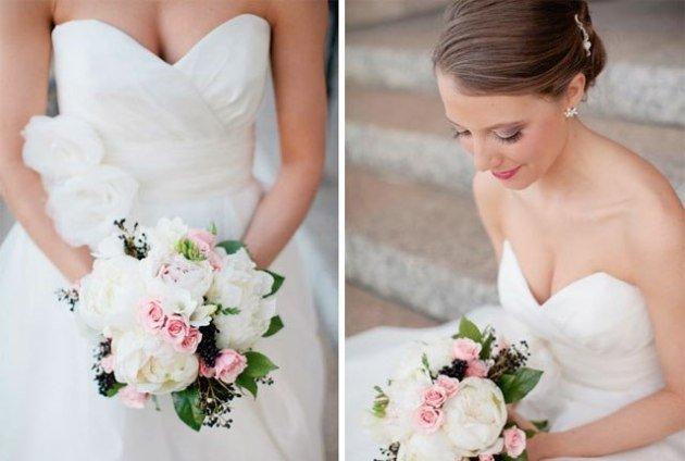 Букет невесты из пионов: как подобрать под свадебный стиль?