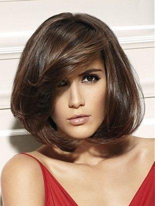челка средние волосы
