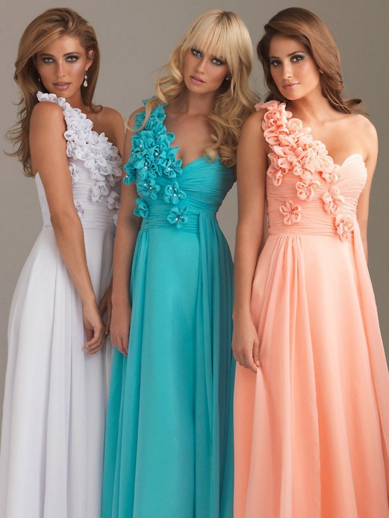 Chic-Empire-Style-Floor-Length-Colorful-Draped-Chiffon-One-Shoulder-Floral-Bridesmaid-Dresses-SG3480