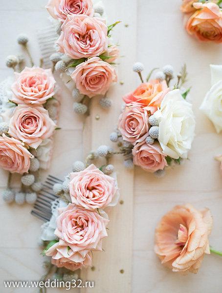 Гребень из цветов своими руками