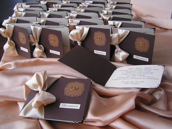 Креативные пригласительные на свадьбу