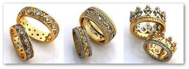 Обручальные кольца каталог 2
