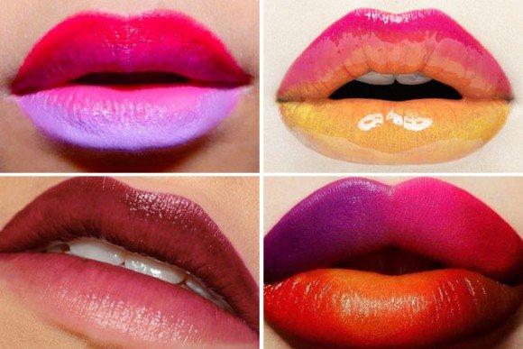 Примеры омбре губ