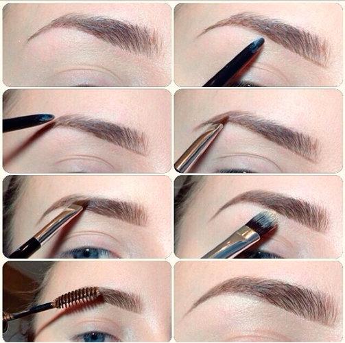 Современный макияж бровей