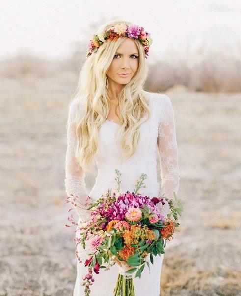 Свадебные тенденции 2015:  прически для невесты | Все о свадьбе