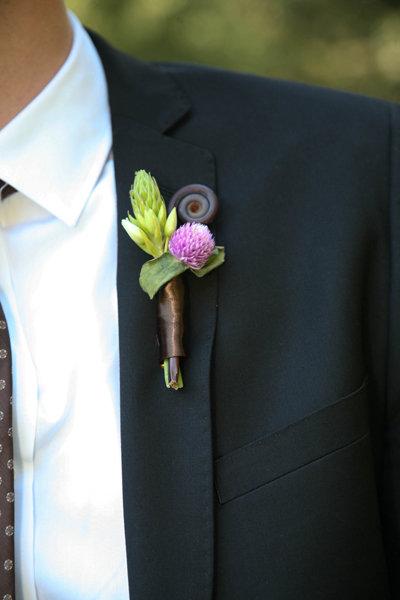 Цветы из полимерной глины Волковой Елены.: Бутоньерки. Продолжение свадебной темы:)
