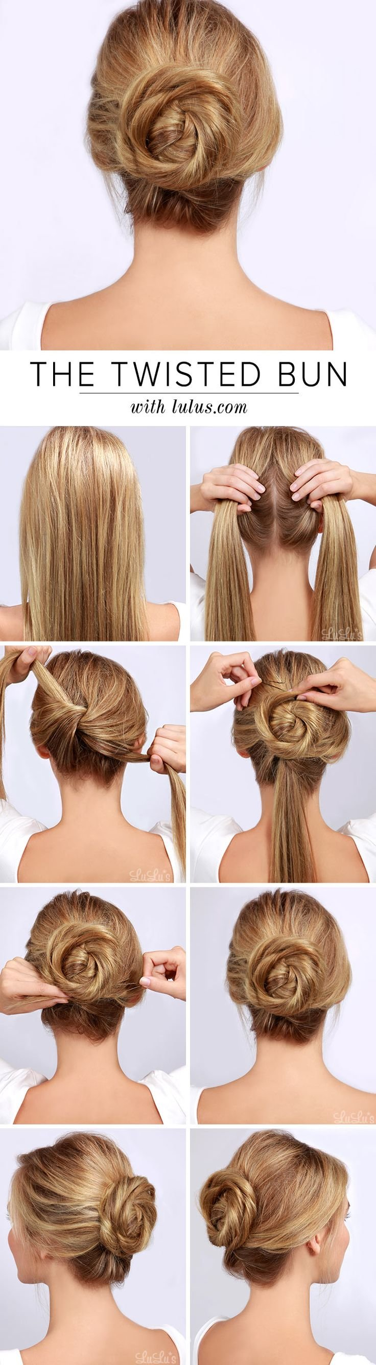 Twisted Bun Hair Tutorial offers a few simple steps to make your dream hair style a reality.