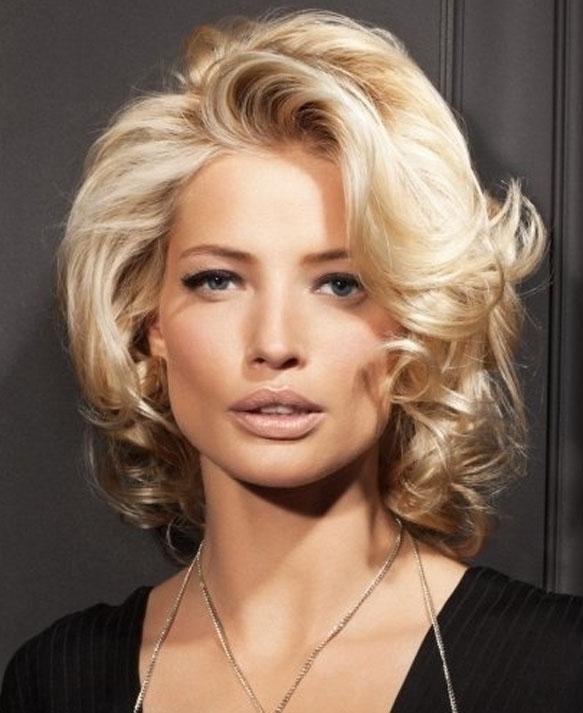 Укладка на средние волосы фото