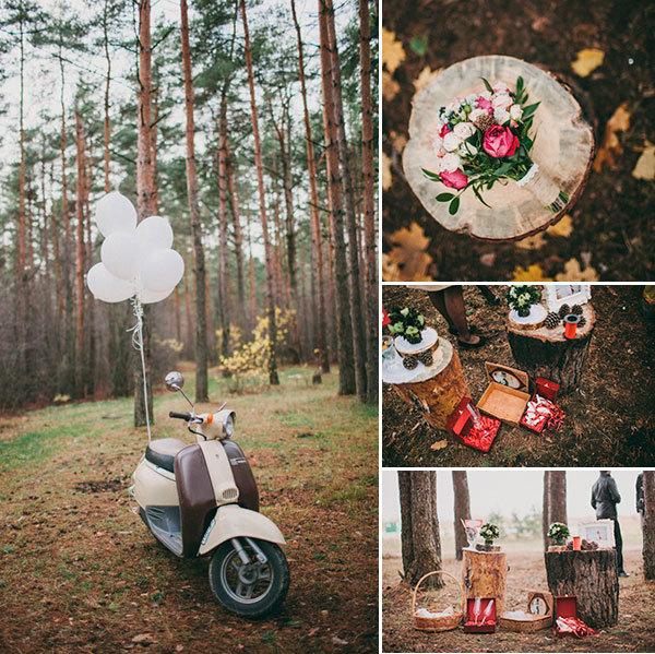 В лесу | Свадьба в Сергиевом Посаде