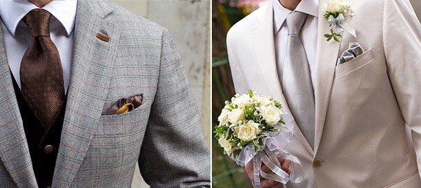 Выбираем галстук или шейный платок для жениха