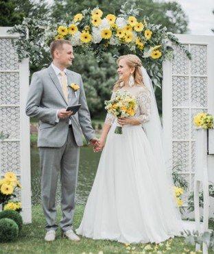 Выездная регистрация брака в Минске. Выездная свадьба, роспись.