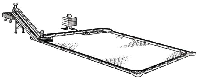 Транспортер ТСН-160 имеет обозначение, соответствующее длине цепного навозоуборочного контура.