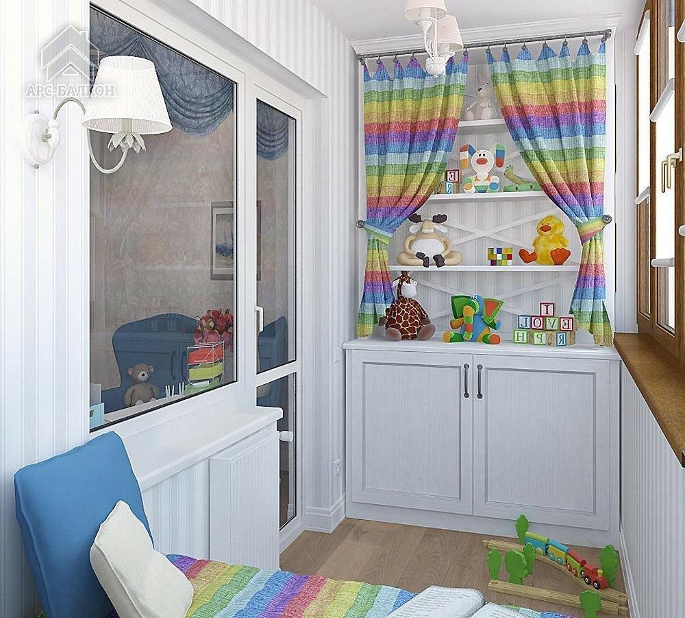 Детская комната на балконах и лоджиях. фото и видео, а также.