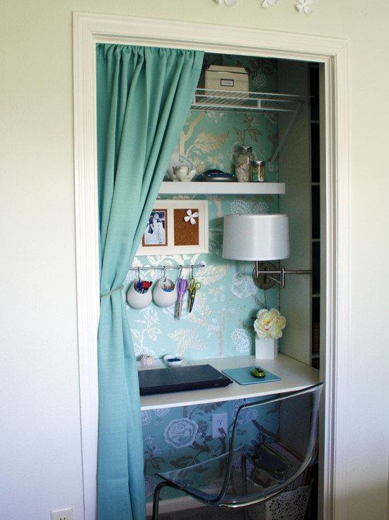 дизайн кабинета в квартире с маленькими комнатами можно сделать исключительно интересным.