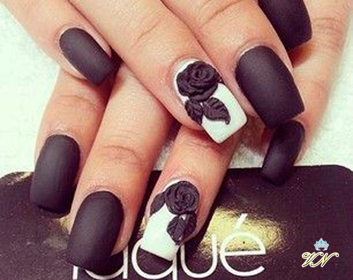 ногти фото черные с рисунком