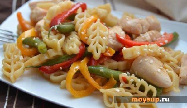 Салат к макаронам с мясом