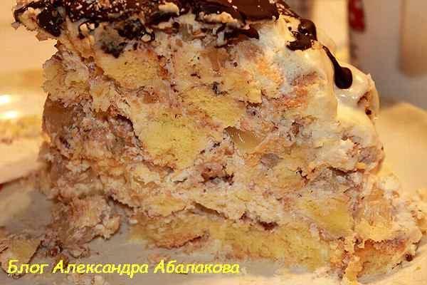 Торт «Панчо» с ананасами - пошаговый фото рецепт 92